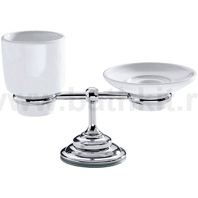 Настольный стакан и мыльница Carbonari Gamma - фото