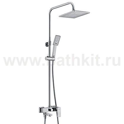 Душевой комплект WasserKraft A17701 со смесителем для ванны - фото