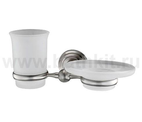 Держатель стакана и мыльницы WasserKraft Ammer К-7000 - фото