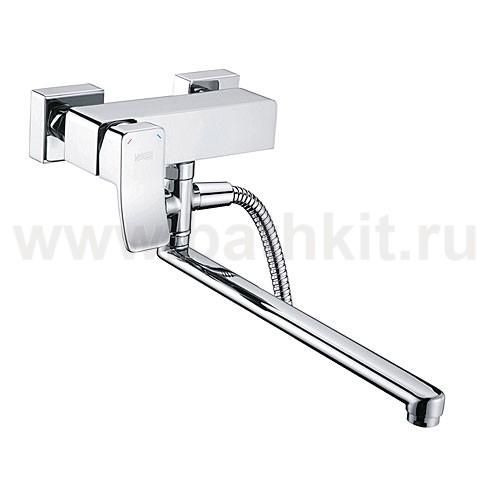 Смеситель для ванны WasserKraft Aller 1062L с длинным изливом - фото