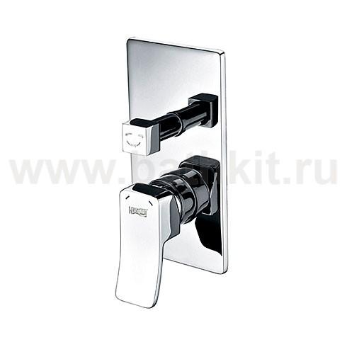 Смеситель WasserKraft Aller 10641 для ванны и душа со встраиваемой системой монтажа - фото
