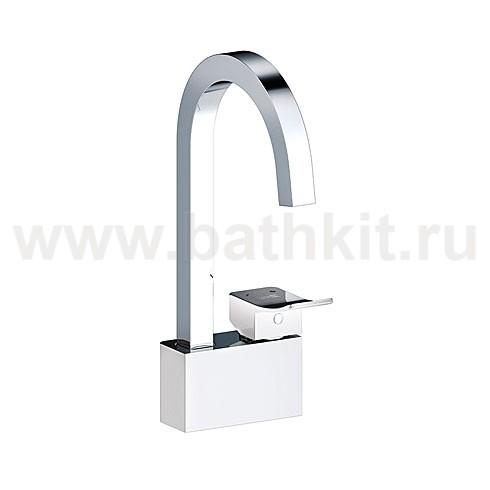 Смеситель WasserKraft Aller1067WHITE для кухни с поворотным изливом - фото