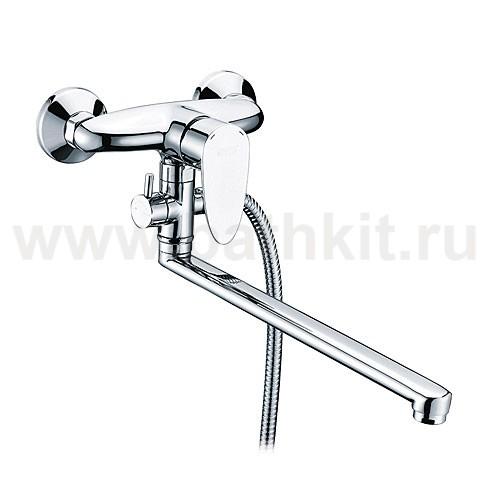 Смеситель для ванны WasserKraft Leine 3502L с длинным изливом - фото