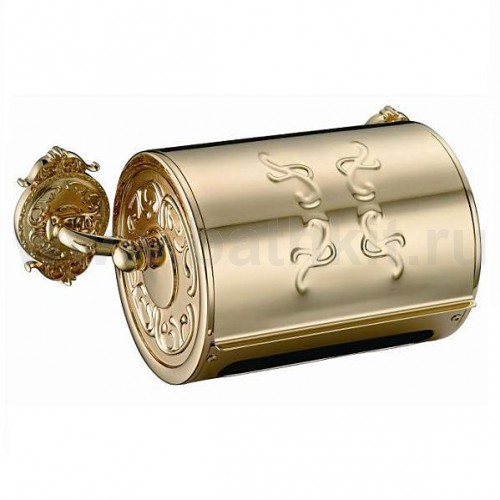 Бумагодержатель с крышкой закрытый Hayta Classic Gold - фото