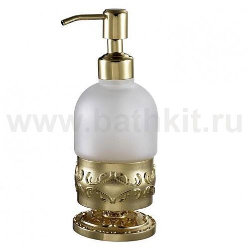 Диспенсер стеклянный настольный Hayta Classic Gold - фото