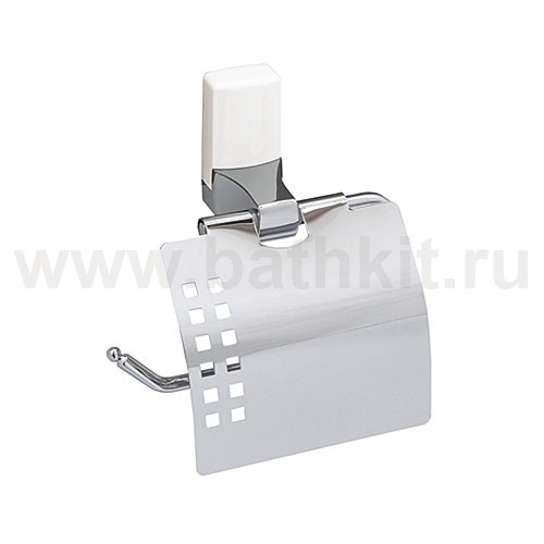 Держатель туалетной бумаги WasserKraft Leine K-5025WHITE, с крышкой - фото
