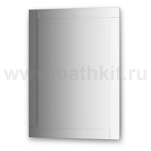 Зеркало с зеркальным обрамлением, хром  (60х80 см) - фото