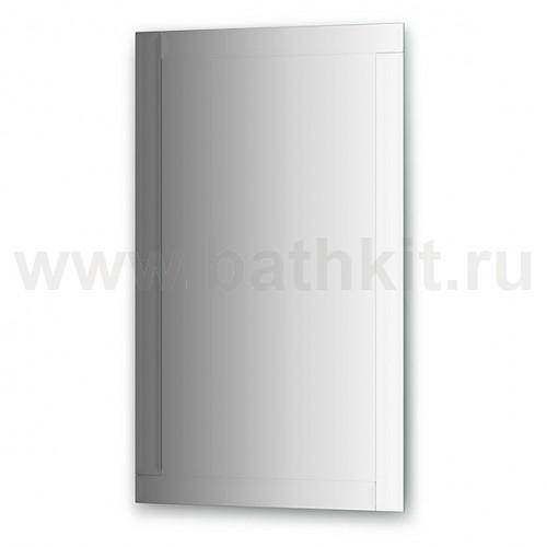 Зеркало с зеркальным обрамлением  (60х100 см, серебро) - фото