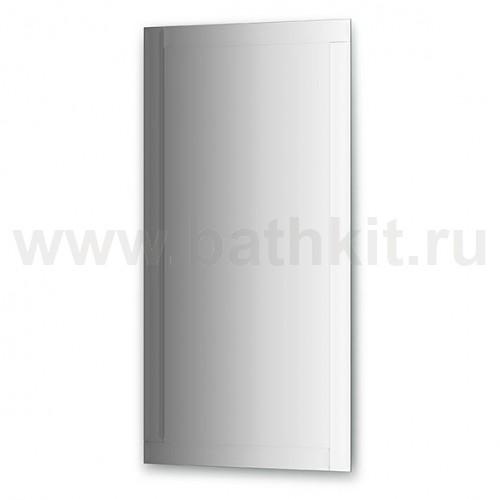 Зеркало с зеркальным обрамлением  (60х120 см, хром) - фото