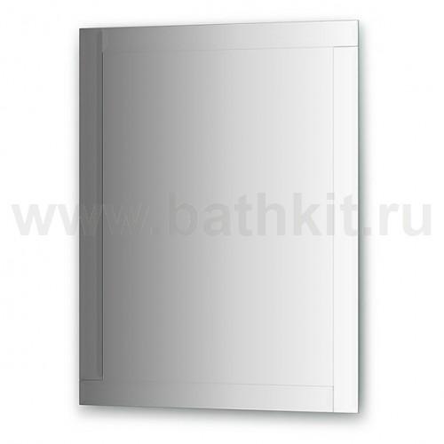 Зеркало с зеркальным обрамлением, хром (70х90 см) - фото