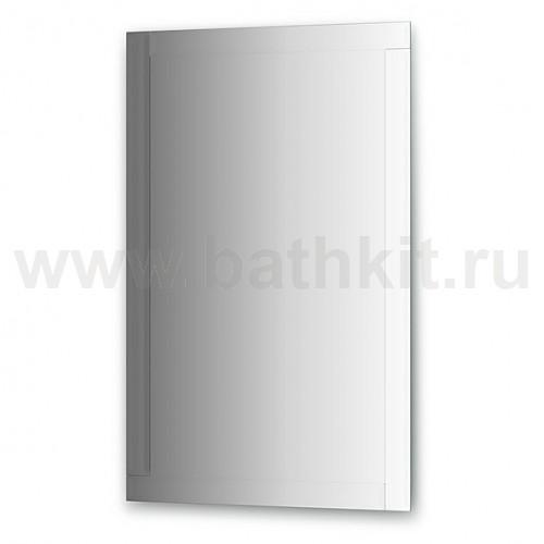 Зеркало с зеркальным обрамлением, цвет хром (70х110 см) - фото
