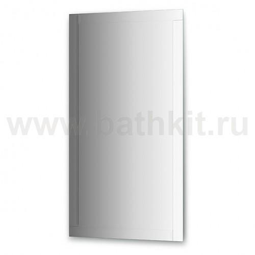Зеркало с зеркальным обрамлением, хром  (70х130 см) - фото