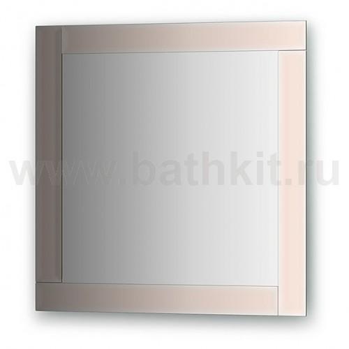 Зеркало с зеркальным обрамлением, цвет хром (60х60 см) - фото