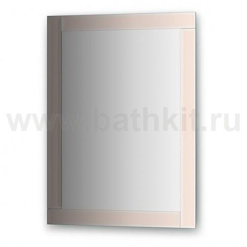 Зеркало с зеркальным обрамлением, цвет хром  (60х80 см) - фото