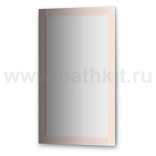 Зеркало с зеркальным обрамлением  (60х100 см, бронза) - фото
