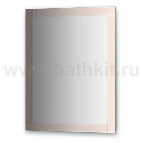 Зеркало с зеркальным обрамлением, цвет хром (70х90 см) - фото