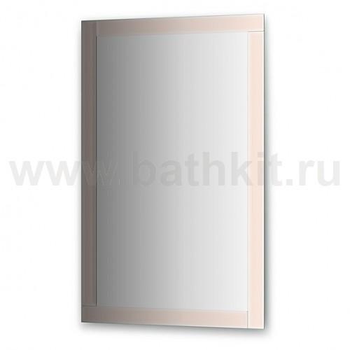 Зеркало с зеркальным обрамлением, хром (70х110 см) - фото