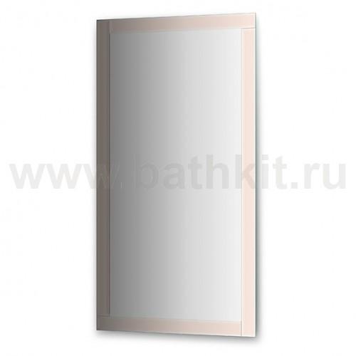 Зеркало с зеркальным обрамлением, цвет хром  (70х130 см) - фото