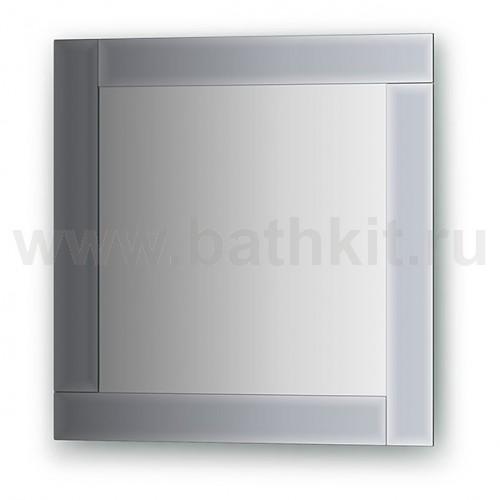 Зеркало с зеркальным обрамлением  (50х50 см) - фото