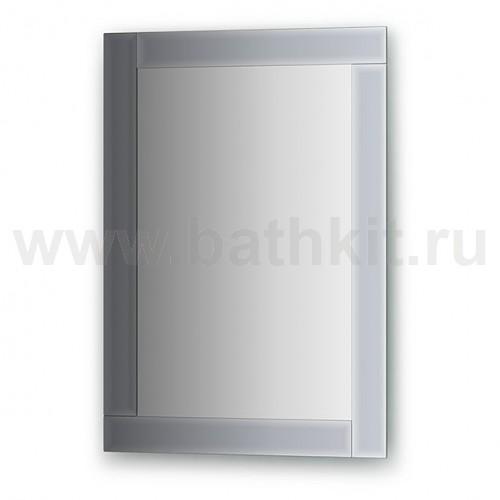 Зеркало с зеркальным обрамлением  (50х70 см) - фото