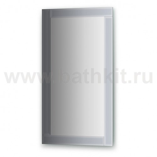 Зеркало с зеркальным обрамлением  (50х90 см) - фото