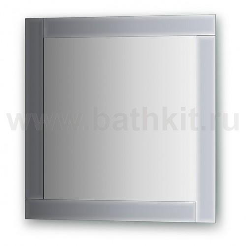Зеркало с зеркальным обрамлением  (60х60 см) - фото