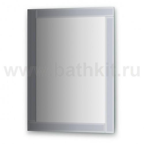 Зеркало с зеркальным обрамлением  (60х80 см) - фото