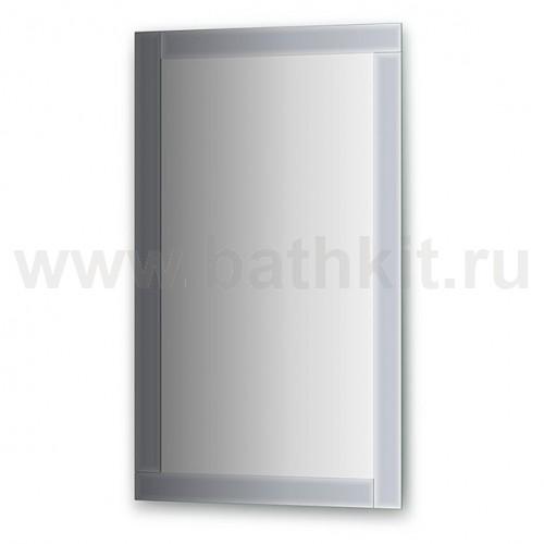 Зеркало с зеркальным обрамлением  (60х100 см, графит) - фото