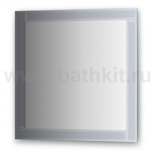 Зеркало с зеркальным обрамлением  (70х70 см) - фото