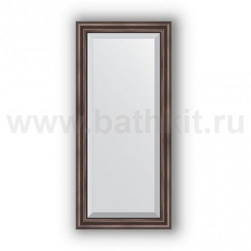 Зеркало в багетной раме (51х111 см) Палисандр - фото