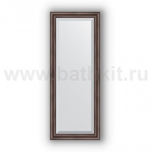 Зеркало в багетной раме (51х131 см) Палисандр - фото