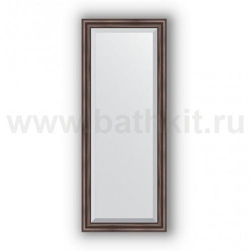 Зеркало в багетной раме  (56х141 см) Палисандр - фото