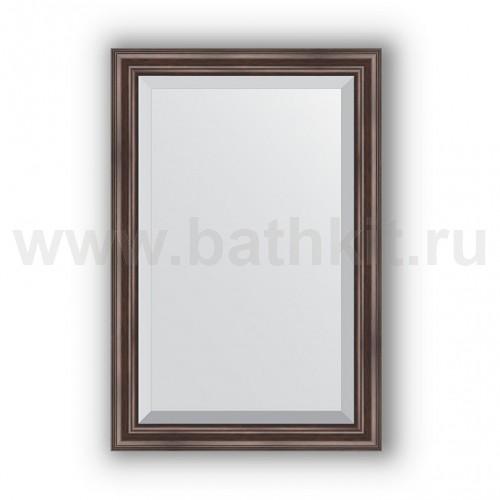 Зеркало в багетной раме  (61х91 см) Палисандр - фото