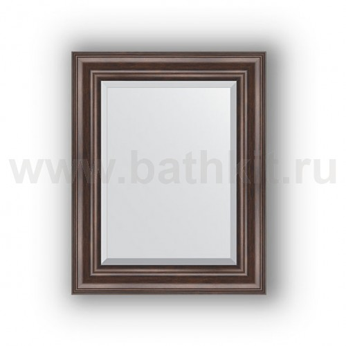 Зеркало в багетной раме (42х52 см) Палисандр - фото