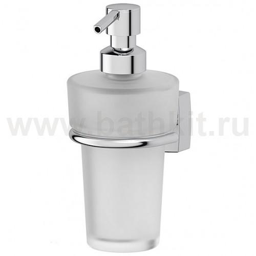 Держатель с емкостью для жидкого мыла (матовый хрусталь; хром) FBS Esperado - фото