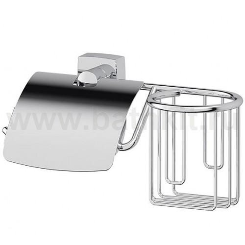 Держатель туалетной бумаги с крышкой и освежителя FBS Esperado (хром) - фото