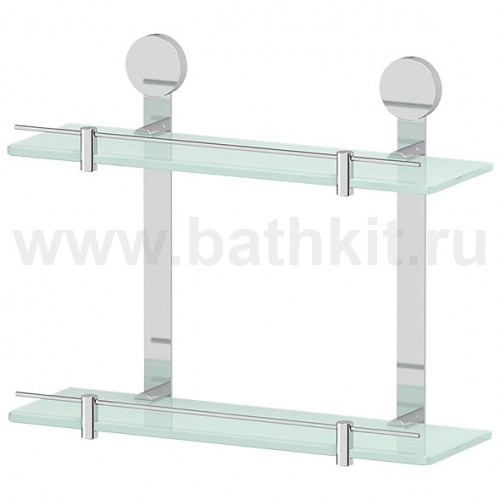 Полка стеклянная двойная 40 см Artwelle Harmonia - фото