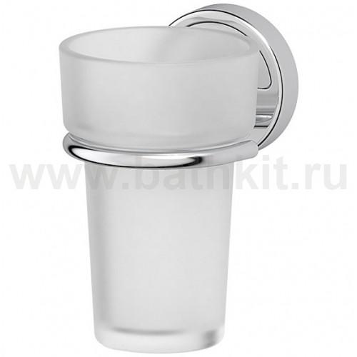 Держатель со стаканом (матовый хрусталь; хром) FBS Luxia - фото