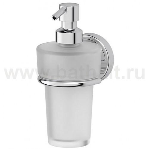 Держатель с емкостью для жидкого мыла (матовый хрусталь; хром) FBS Luxia - фото