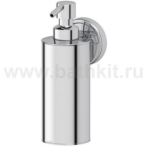 Емкость для жидкого мыла металлическая (хром) FBS Luxia - фото