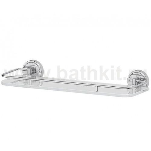 Полка 40 см (матовое стекло; хром) FBS Luxia - фото