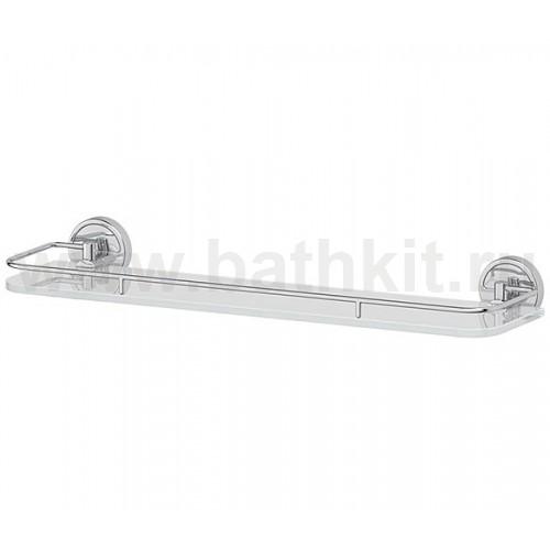 Полка 50 см (матовое стекло; хром) FBS Luxia - фото