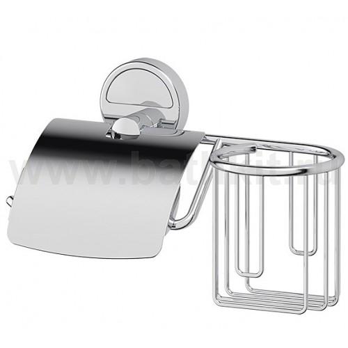 Держатель туалетной бумаги с крышкой и освежителя (хром) FBS Luxia - фото