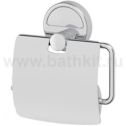 Держатель туалетной бумаги с крышкой (хром) FBS Luxia - фото