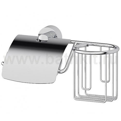 Держатель туалетной бумаги с крышкой и освежителя (хром) FBS Nostalgy - фото