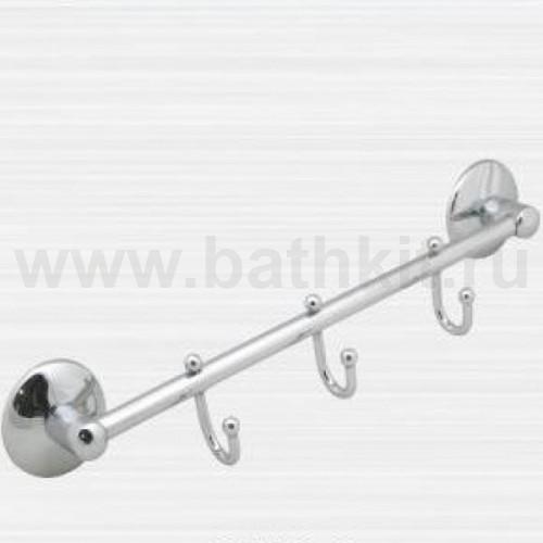 Полотенцедержатель трубчатый на три крючка Rainbowl Otel - фото