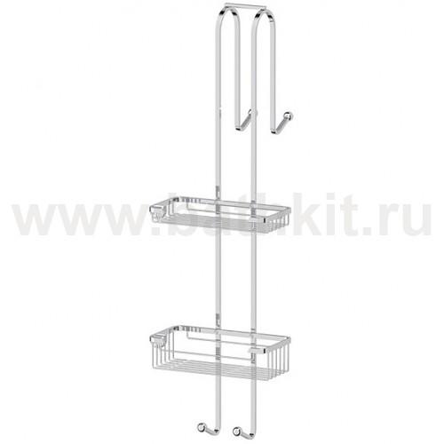 Штанга с полочками-решетками для душевой кабины (хром) FBS Ryna - фото