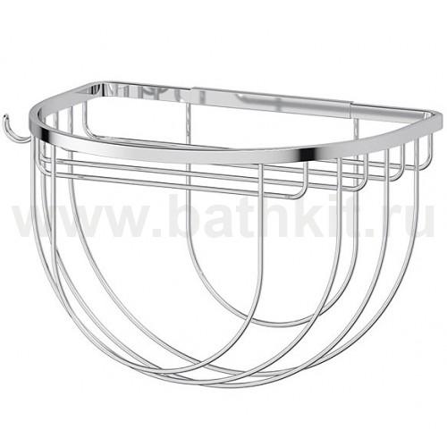 Полочка-решетка 26 см с держателями мочалок (хром) FBS Ryna - фото