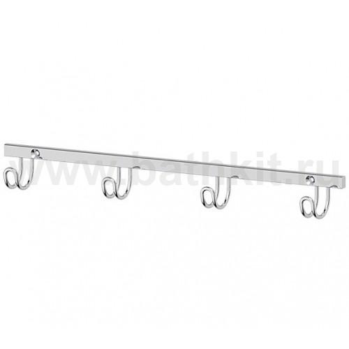 Планка с 4-мя крючками 24 см (хром) FBS Ryna - фото