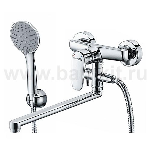 Смеситель WasserKraft Vils 5602L для ванны с длинным поворотным изливом - фото